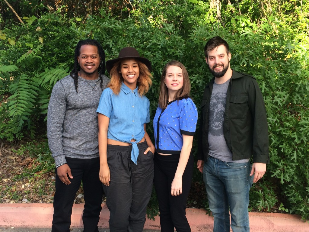 The cast of STT's Belleville - Rico Romalus Parker, Afomia Hailemeskel , Jenny Ledel, and Drew Wall