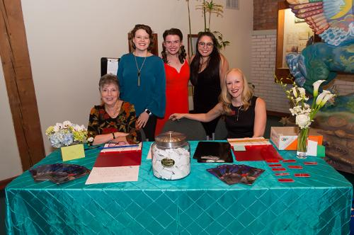 Front of House Event Staff: Lynne Richardson, Amy Kendrick Lee, Ally Van Deuren, Anna Maria Franceschelli, and Danielle Pickard